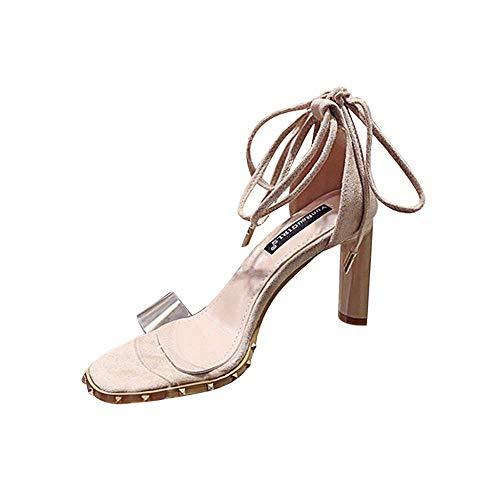 potente para casa VJ GOAL Sandalias de verano para mujer Sandalias de tobillo con cordones finos y atractivos a la moda …