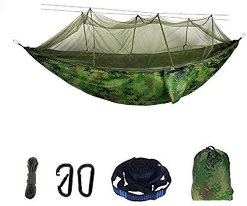 YSCYLY Camping Travel Hangmat, 260 x 140 cm met muskietennet, draagbaar licht gewicht sneldrogend met gratis boomriemen