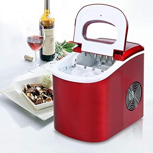 Máquina de fabricantes de hielo, Contador Fabricante de cubitos de hielo 15kg ICE / 24 H Hielo Listo / 8 min Cesta extraíble Hielo Scoop silencioso Easy Operación Inicio B, 2.2 L wmpa ( Color : A )