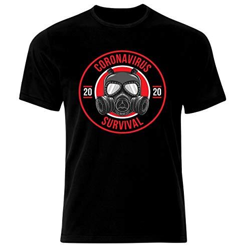 Coronavirus Covid-19 Survivor Viren Survivor Stay Home Corona - Camiseta Negro S