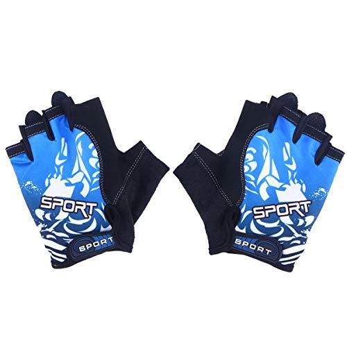 VORCOOL UV Protection Fishing Fingerless Gloves Anti-Slip Fishing Gloves for Cycling Climbing Fishing Riding Kayaking (Size M)