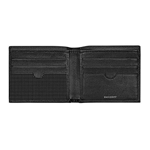 Davidoff Brieftasche Schwarz Paris 22866 Geldbörse ohne Münzfach Kartenetui