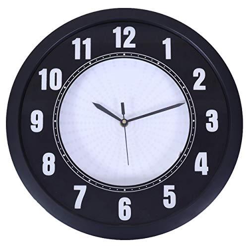 Smera Reloj de pared analógico de 32 cm x 32 cm LED con 22 colores LED, mando a distancia incluido para cambiar color