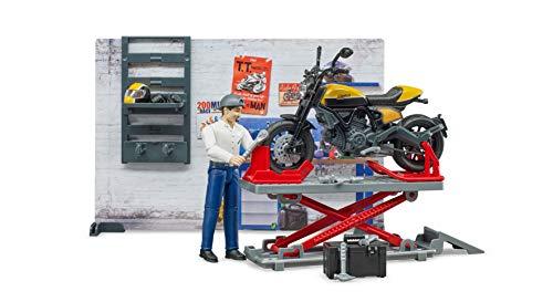 Bruder 62102 - bworld Motorradwerkstatt Scrambler Ducati Full Throttle