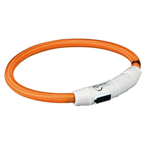 Trixie Flash Leuchtring USB M - L (45 cm / ø 7 mm) orange