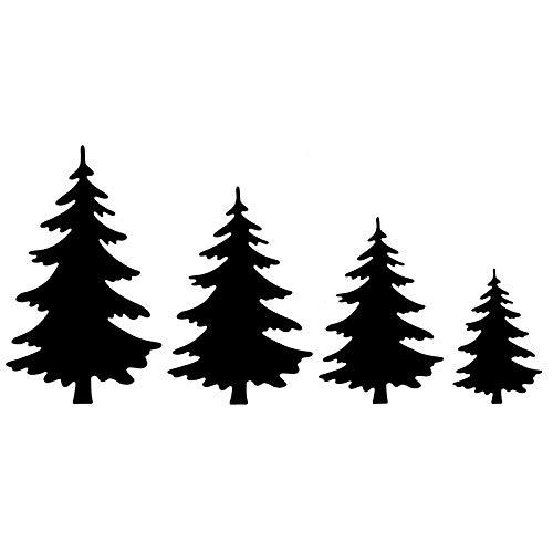 Stanzschablonen | Tannenbäume 2 | 4 Stück
