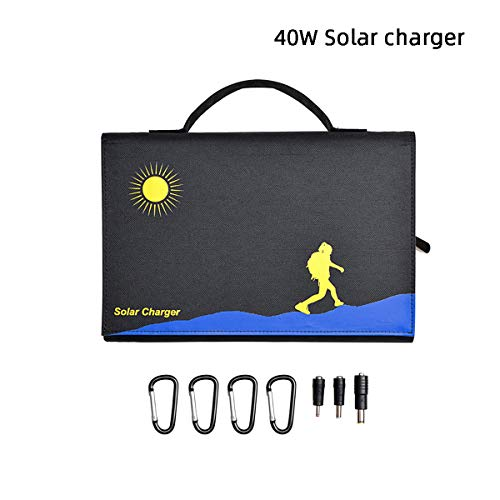 WXJHA 40W 12V Solar Panel USB Device Charger Portable Folding Solar Panel Kit Battery Charger for Camping/Caravan/Motorhome Rallies/Trade Shows