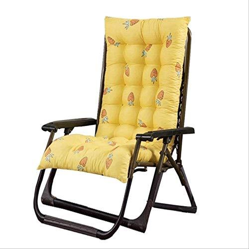 Schaukelstuhl Polster Schaukeln Stuhlkissen Indoor Lounger Kissen Dicke große weiche Stuhl Sofa Pad Perfekt für Indoor Outdoor Recliner 48x125cm Kaffee (Color : Yellow, Size : 48x125cm)