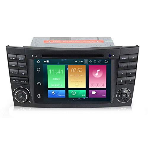JIBO 7' Tocar Pantalla Android 9.0 Auto Radio GPS Navegación DVD Jugador Ocho nucleos Teléfono Control SWC Nav Sat Cabeza Unidad por Mercedes Benz Clase E Estéreo Multimedia Jugador