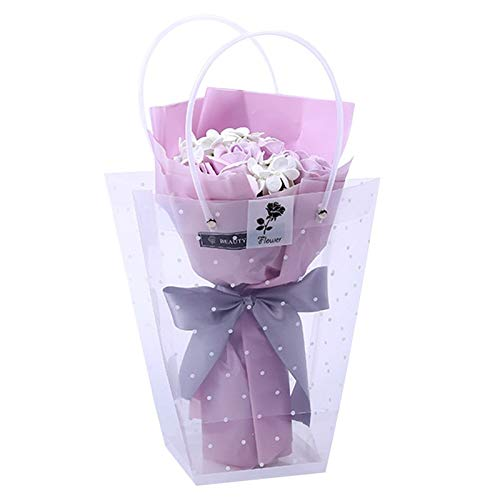 Artificial & Dried Flowers - Cartoon Stitch Bouquet 11pcs Soap Rose Flower Valentijn 39 S Day Gift met luxe doos Rustiek - Dried Flowers Artificial Artificial Dried Flowers Soap Bouqu A4.