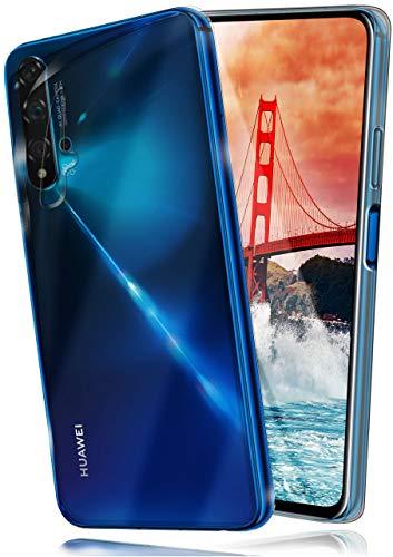 moex Aero Hülle kompatibel mit Huawei nova 5T - Hülle aus Silikon, komplett transparent, Klarsicht Handy Schutzhülle Ultra dünn, Handyhülle durchsichtig einfarbig, Klar