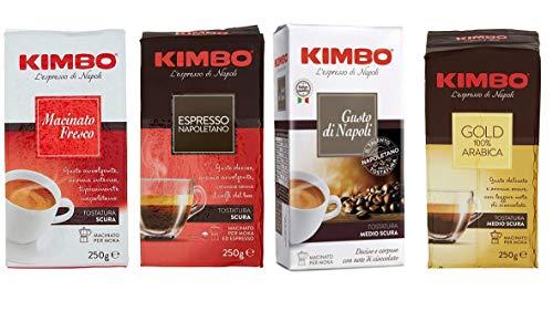Kimbo Espresso Napoletano testpaket Gold 100% arabica Kaffee Packung gemahlen