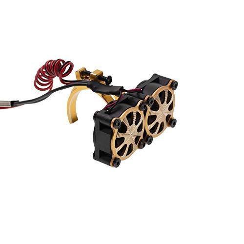 JAP768 Motor disipador térmico del Ventilador de refrigeración térmica Fit con Sensor for 540 550 3650 3660 Motores 1/10 en Forma for el Coche de RC axial SCX10 Traxxas TRX4 (Color : Amarillo)