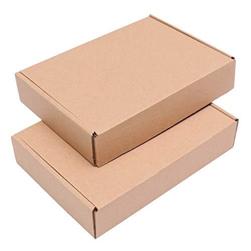 TOYANDONA 25 Piezas Caja de Envío de Cartón Pequeñas Cajas de Correo Cajas de Mudanza Embalaje Caja de Envío de Kraft...