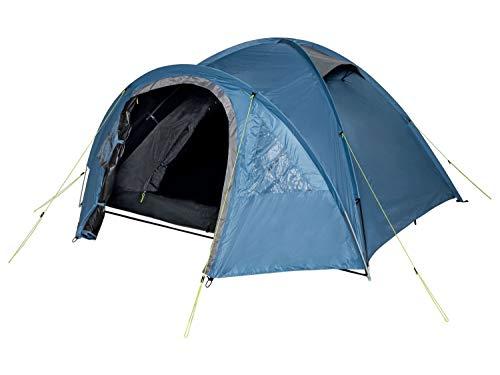Crivit 4 Personen Iglu Doppeldachzelt verdunkelt Zelt Wasserabweisend Blau