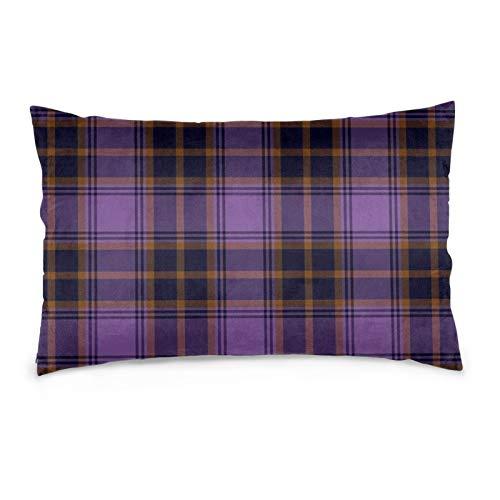 Lesif O'Sullivan Beare - Fundas de cojín rectangulares de terciopelo, fundas de almohada decorativas suaves para sofá, dormitorio, coche, 40,6 x 60,9 cm, color morado