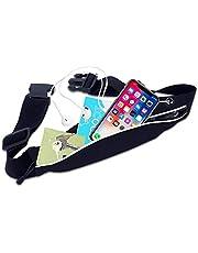 Oumino ウエストポーチ ランニング ポーチ ジョギング バック 防水 iPhone Plus適応 サイクリング 旅行 夜間対応