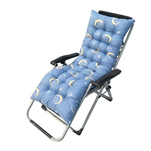AISHANG Garden High Back Chair Cushion Recliner Relaxer Outdoor Indoor Long Bench Chair Seat Pad Portable Thick Cushions for Travel (155x48cm,style2)