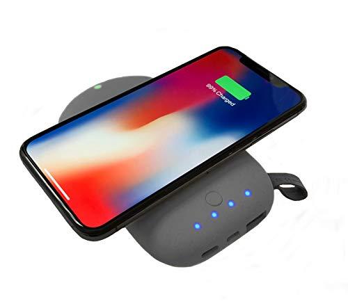 Fonesalesman - QiStone2 Draadloze Draagbare Qi Oplader met 8000 mAh | Geschikt voor iPhone 11, 11 Pro, XS, XR, X, 8, 8 Plus, Samsung Galaxy S10, S10+, S10e, S9+, S9, Huawei P20 Pro, Google Pixel 4 en meer.