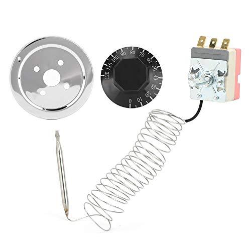 Dgtrhted 0-120 ° C Control de temperatura Termostato Radiador Ventilador Interruptor Universal Auto Parts