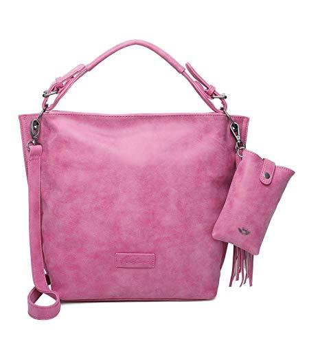 Fritzi aus Preussen Damen Fritzi 01 Hobo Schultertasche, Squeezy Pink, One Size