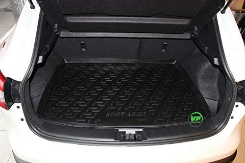 J&J AUTOMOTIVE Premium Antirutsch Gummi-Kofferraumwanne für alle Nissan Qashqai J11 2013-2018