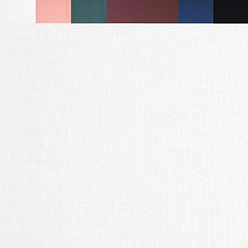 FabricLA DTY Double Brushed Polyester (96%) Spandex (4%) Jersey Knit Fabric | White | 5 Yards