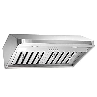 Kobe Range Hoods Kobe Brillia OVS-CHX9136SQB-40 36 Inch Under-Cabinet Mount Range Hood with LED Light and QuietMode