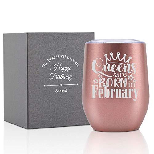Divertenti regali di compleanno per donne, ragazze, amiche, colleghe, mogli, mamme, figlie, sorelle, zie -Bicchiere da vino 350 ml in acciaio inossidabile isolata sotto vuoto a doppio strato