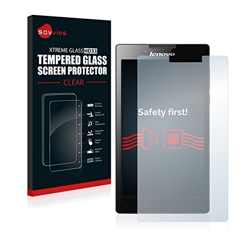 Savvies Panzerglas kompatibel mit Lenovo Tab 2 A7-20 - Echt-Glas, 9H Härte, Anti-Fingerprint