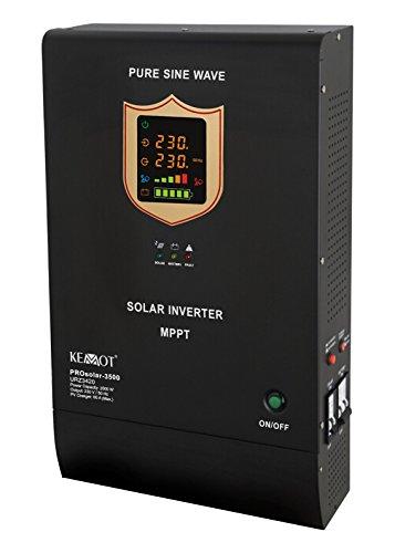 KEMOT URZ3420 PROsolar-3500, Solarwechselrichter, 3500W Schwarz