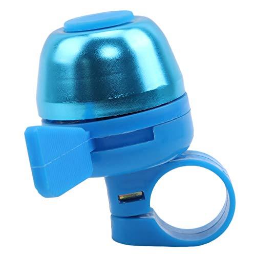 # N/A Growrak Mountain Bike Bell clásico bicicleta campana ventilador en forma de bicicleta manillar anillo accesorios de bicicleta, azul