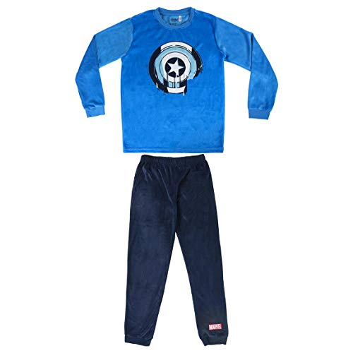 Artesania Cerda Pijama Largo Poly Avengers Conjuntos, Azul (Azul C37), 8 Años para Niños