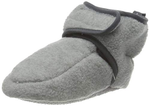 Playshoes Unisex Baby Fleece-Krabbelschuhe Lauflernschuh, grau 33, 16.5 EU