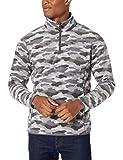 Amazon Essentials Men's Quarter-Zip Polar Fleece Jacket, Grey Camo, XX-Large