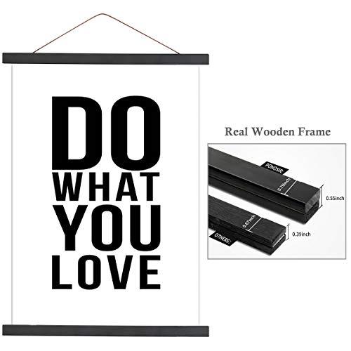 PONOSIR Posterrahmen, magnetisch, Holzrahmen für Leinwand, Foto, Kunstwerke 1x8 schwarz