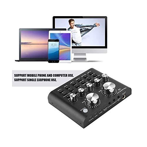 Live geluidskaart, Voice Change Audio Sound Card Met Bluetooth Voor Muziek Opnemen Karaoke Zingen Uitzending Op Mobiele Telefoon Computer Laptop Tablet