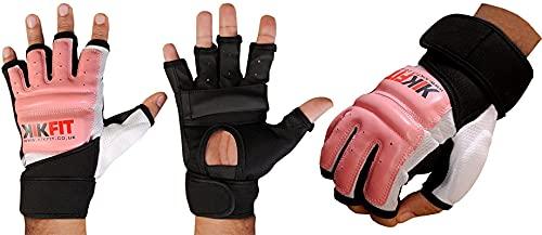 Pelle KIKFIT Rosa di arti marziali di formazione GEL Guanti MMA Boxing Punch Bag Small