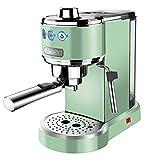 modo Cafetera Retro, Extraccion De Alta Presion Y Calefaccion Electronica Espresso Termostática, con Espumador De Leche