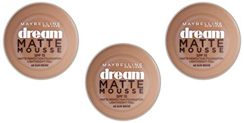 Gemey Maybelline Dream Matte Mousse Grundierung N°48 Beige Ensoleillé - 3er pack