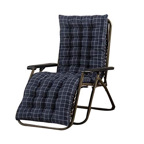 T-ara Suave y confortable Silla plegable portátil, cojín de la silla del ocio, cojín de la silla reclinable suave y cómodo for el patio interior y exterior, portátil y silla plegable práctica diseño d