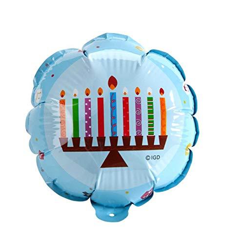 Hanukkah Party Balloons Set of 4 Self Inflating Balloons Menorah