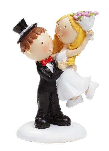 Brautpaar als Tischdeko/Tortendeko, Mann hebt Frau, 90 mm