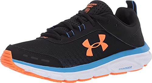 Under Armour mens Charged Assert 8 Running Shoe, Black/White, 13 US