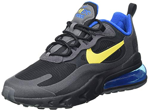 Nike Air MAX 270 React, Zapatillas para Correr Hombre, Black Tour Yellow Dark Grey Blue Spark, 39 EU