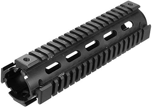 UTG Model 4 Mid Length 2-PC Drop-in Quad Rail Handschutz, schwarz, one Size