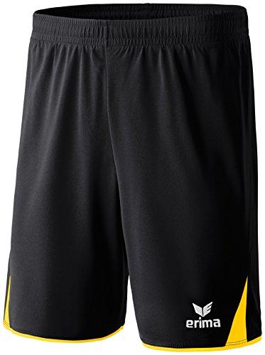 Erima Herren Classic 5-C Shorts, schwarz/gelb, M