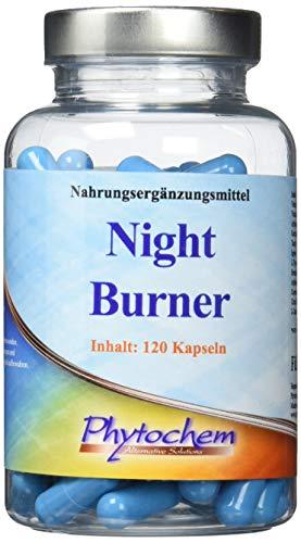 NIGHT BURNER | zur Unterstützung der Fettverbrennung in der Nacht | 120 Kapseln | Premium Qualität aus Deutschland