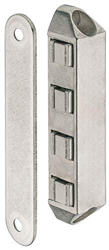 Gedotec H10532 Magneetsluiting, magneetsluiting voor balkondeuren en kasten, hechtkracht 8 kg, vernikkeld staal, 1 stuk, extra sterk