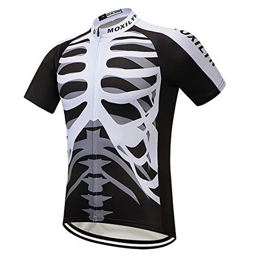 Moxilyn Abbigliamento da Ciclismo Pantaloncini da Ciclismo, Set da Jogging da Ciclismo, Abbigliamento Sportivo da Esterno, Tuta da Bicicletta,Modello di Scheletro